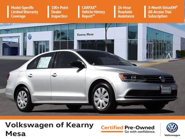 Certified Pre-Owned 2016 Volkswagen Jetta S w/ Manual Transmission