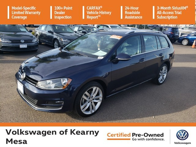 Certified Pre-Owned 2017 Volkswagen Golf SportWagen SEL